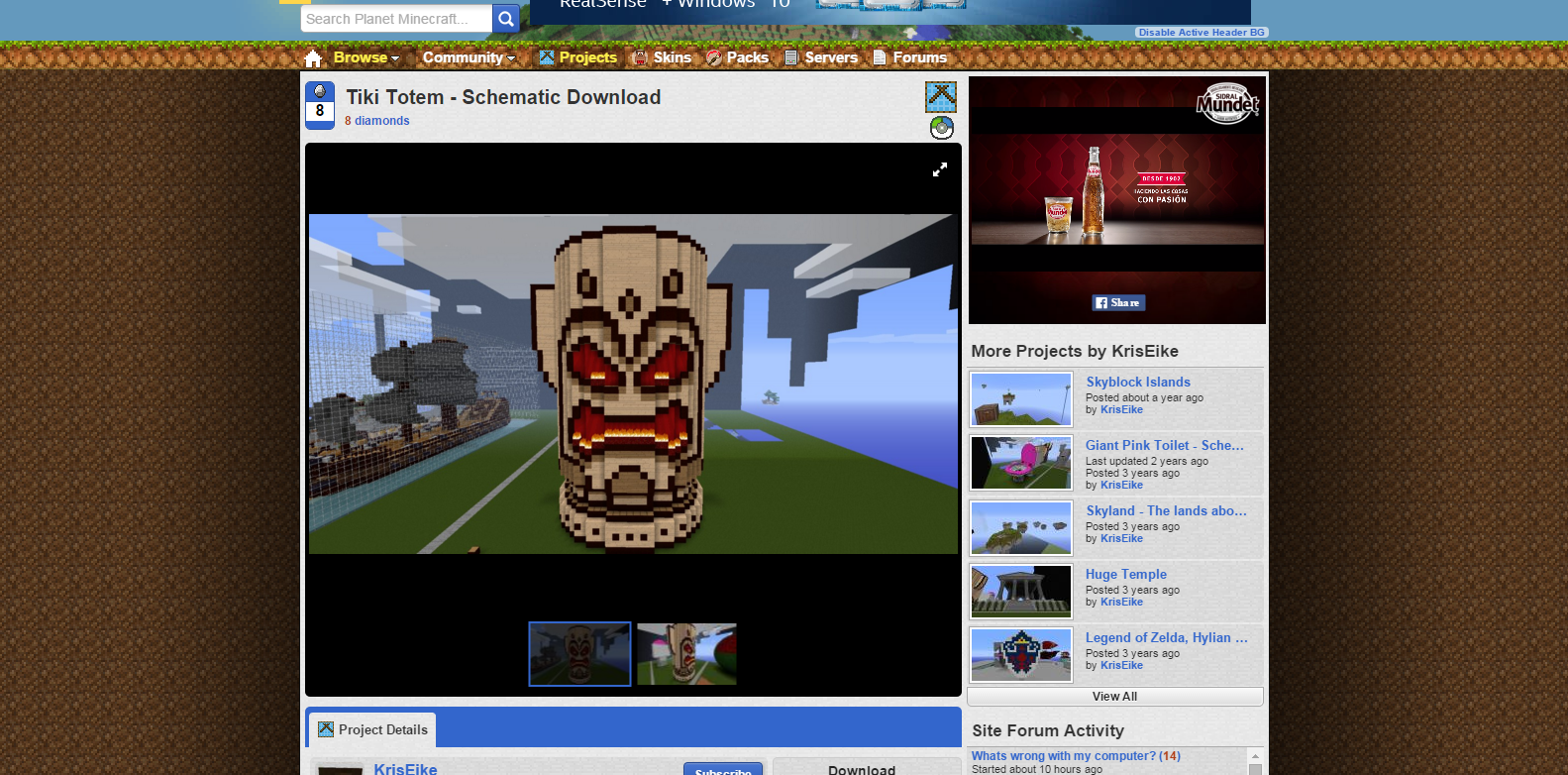 Tiki Totem   Schematic Download Minecraft Project.