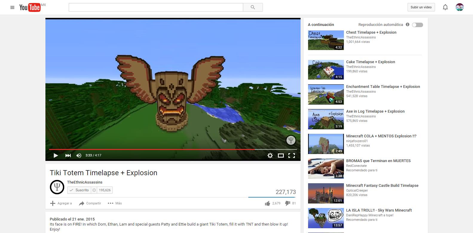 Tiki Totem Timelapse   Explosion   YouTube.